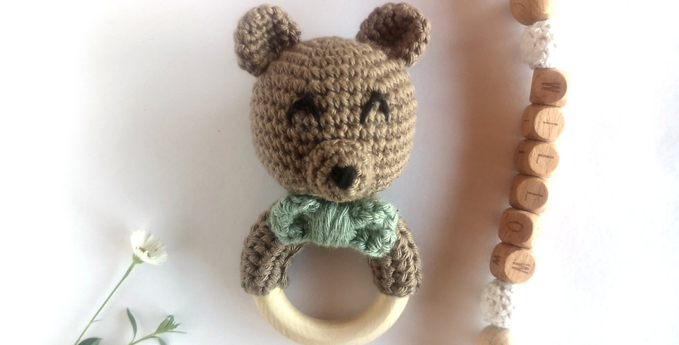 Personalized Eco-baby Gift Set - Bow Tie Bear