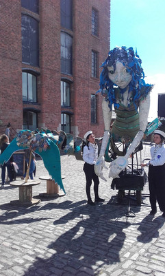 Puppeteering, Liverpool River Festival 2017
