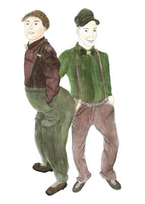 Costume Design Dobchinski and Bobchinski