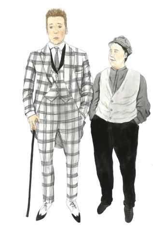 Costume Design Khlestakov and Osip Act 2