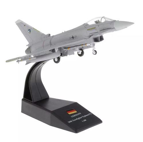 Miniatura de metal de um EF-2000 Eurofighter Typhoon (1/100)