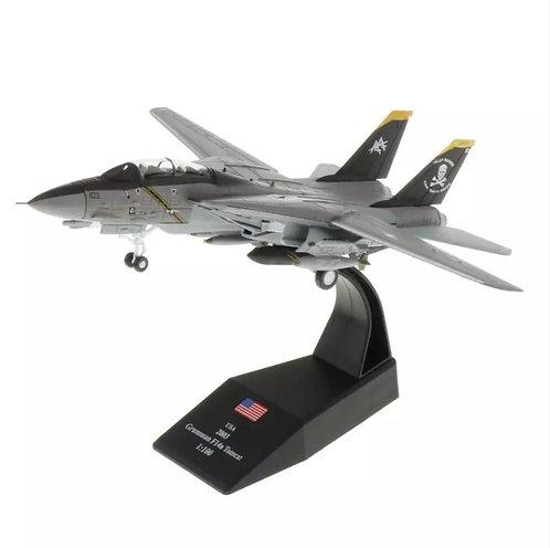 Miniatura de metal de um Grummam F-14 Tomcat (1/100)