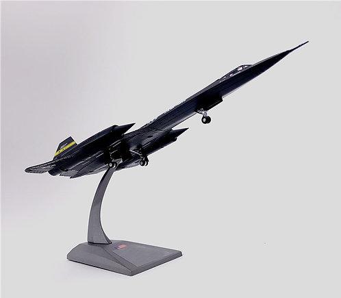 Miniatura de metal de um Lockheed Martin SR-71 Blackbird (1/144)