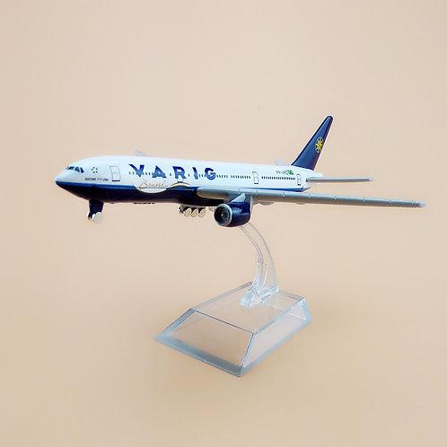 Miniatura de Boeing 777 tamanho 16Cm (1/400)