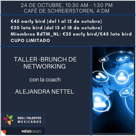 """La Red de Talentos Mexicanos en los Países Bajos te invita al """"Taller - Brunch de Networking"""""""