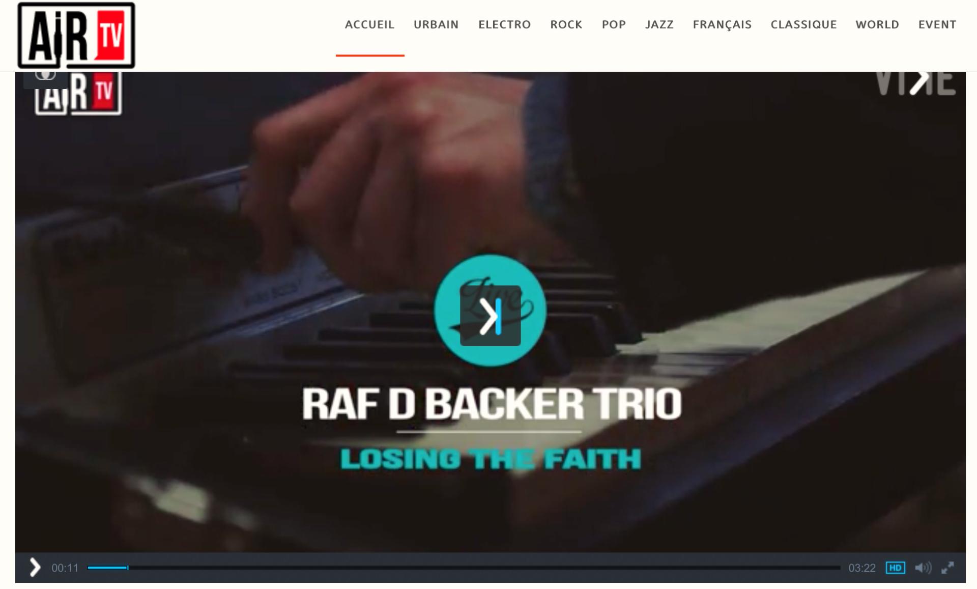 Raf D Backer on AirTv