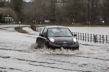 Car in flood Masham