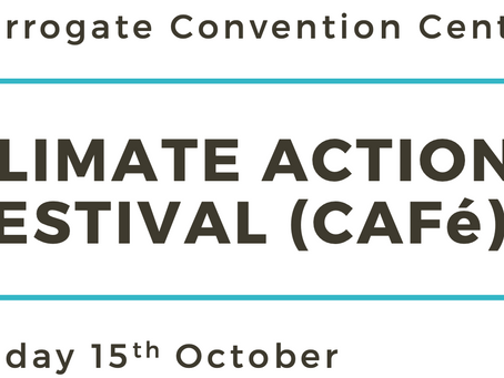 Free net zero conference stand, Harrogate 15th October
