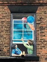 Painted balloons Knaresborough HDCCC