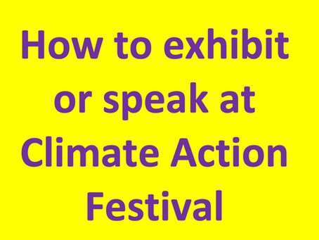 How to exhibit or speak at First Climate Action Festival (CAFé).