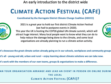 Climate Action Festival (CAFé): tell us how you will help!