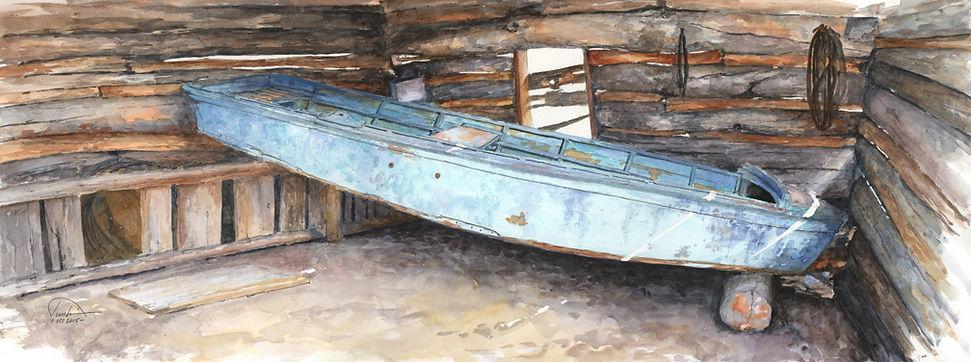 Hagadone's River Boat - 9x24 - lo res -