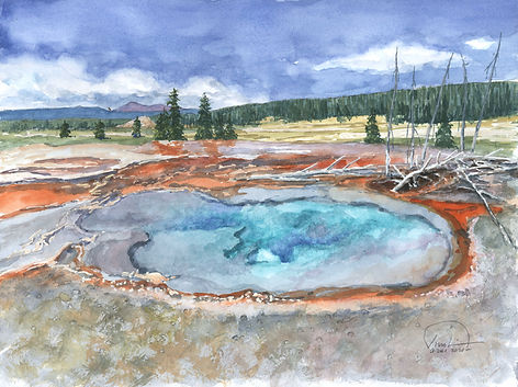 Yellowstone Hot Spring Pool 9x12 lo res.