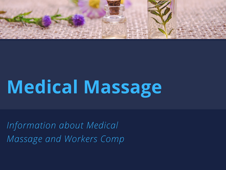 Medical Massage: Auto Accidents, Workers Comp and Other Important Information