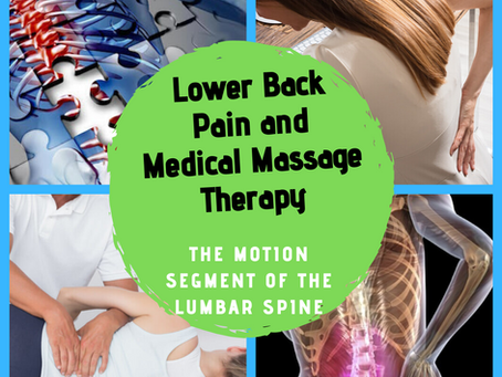Lower Back Pain and Medical Massage Therapy: The Motion Segment of the Lumbar Spine