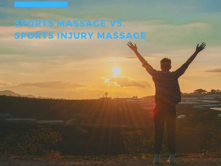 Massage for Sports Injury: Sports Massage vs. Sports Injury Massage