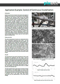 Control of continuous crystallization.pn