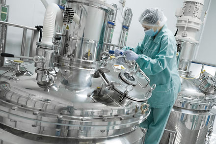 Pharmaceutical factory worer