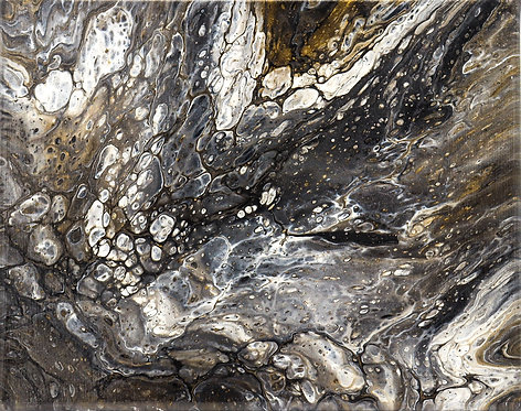 INTERGALACTIC - Original Abstract Fluid Acrylic Flow Art Pour Painting