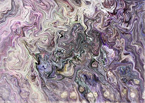 SOUL - Original Abstract Fluid Acrylic Flow Art Pour Painting