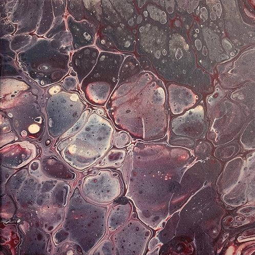 FLESH - Original Abstract Fluid Acrylic Flow Art Pour Painting