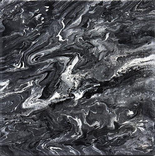DUST - Original Abstract Fluid Acrylic Flow Art Pour Painting