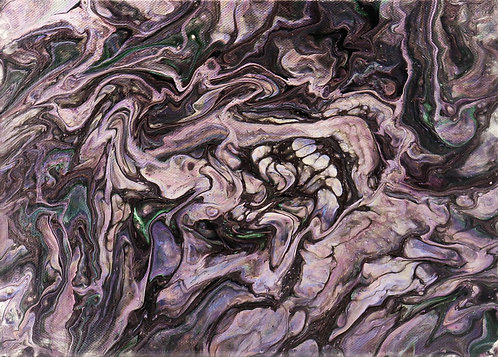 GHOST - Original Abstract Fluid Acrylic Flow Art Pour Painting