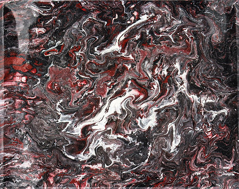 INTROSPECTION - Original Abstract Fluid Acrylic Flow Art Pour Painting