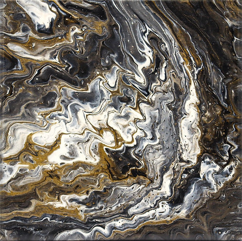 MOONDANCER - Original Abstract Fluid Acrylic Flow Art Pour Painting
