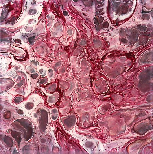 REBIRTH - Original Abstract Fluid Acrylic Flow Art Pour Painting