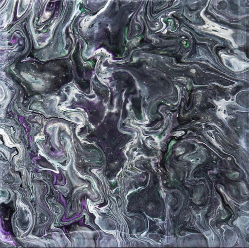HAUNTED - Original Abstract Fluid Acrylic Flow Art Pour Painting