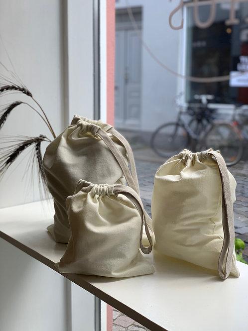 Håndsyet stofpose (stor)