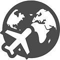 飛行機と地球のフリーアイコン素材 1.jpeg