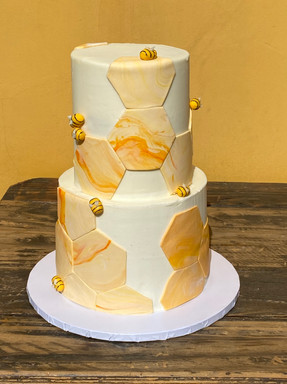 "3 Layers Tall 6/8"" Cake - Bay-BEE Shower"