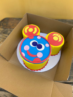 """(2) 4"""" & (1) 6"""" Round cakes - Mickey Mouse Clubhouse"""