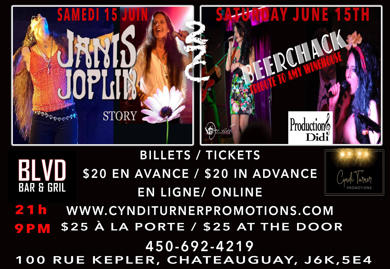 Amy Winehouse plus Janis Joplin Tribute live at The Blvd