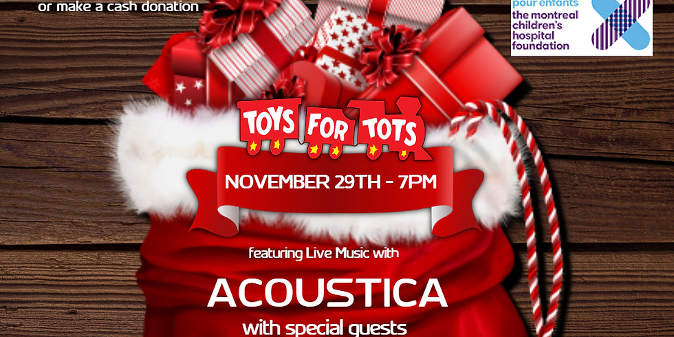 Toys for Tots Toy Drive Acoustic Night live at The Blvd