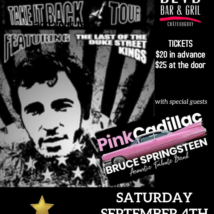 TAKE IT BACK TOUR - BRUCE SPRINGSTEEN TRIBUTE