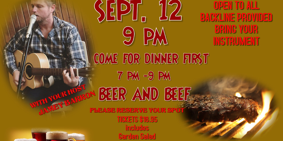 Jam Night/Beef and Beer with host Jamey Barron live at Chez George