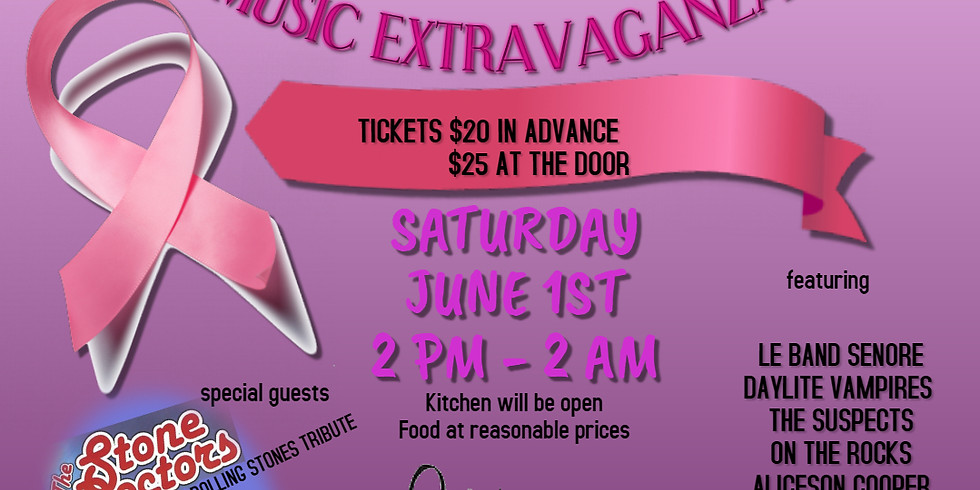 Music Extravaganza Fundraiser to benefit The Quebec Breast Cancer Foundation