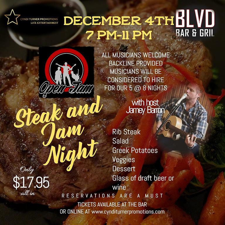 Jamey Barron hosts Steak and Jam Night