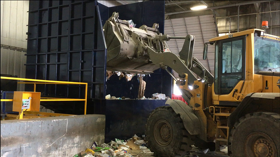 Loader-recycling-compactor