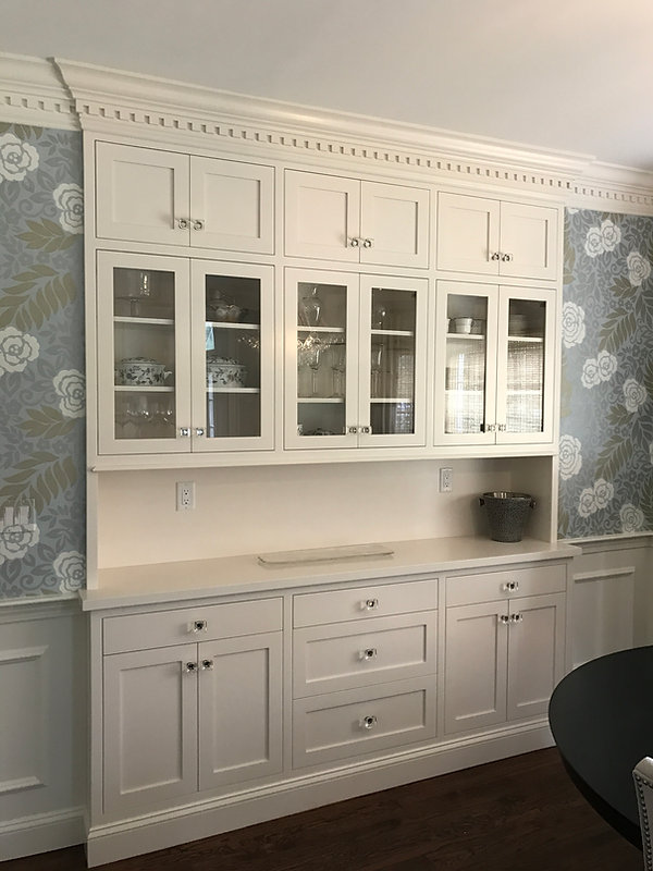 custom built in dining hutch