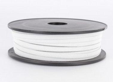 Elastique plat 7mm blanc