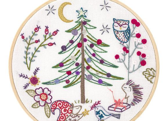 """Kit à broder """"Noël en forêt"""""""
