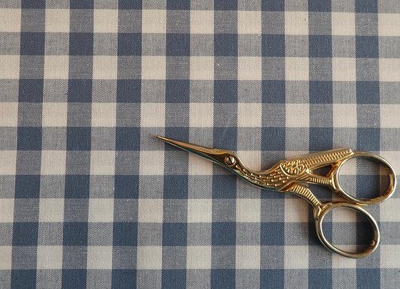 Coton Vichy Bleu et Blanc