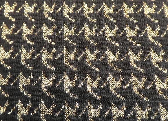 Jacquard Noir Pied de poule lurex