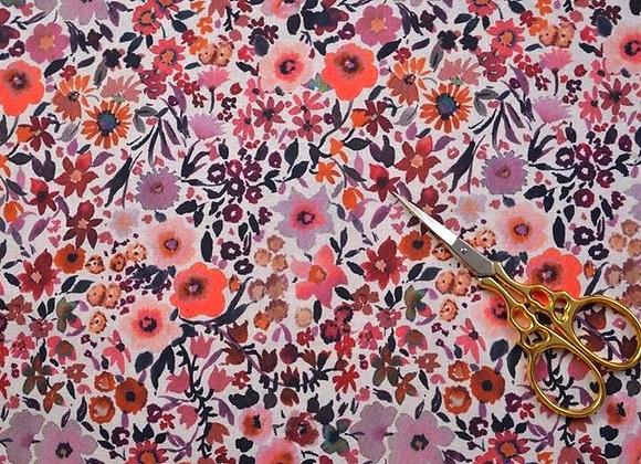 """Coton """"fleurs d'automne"""""""