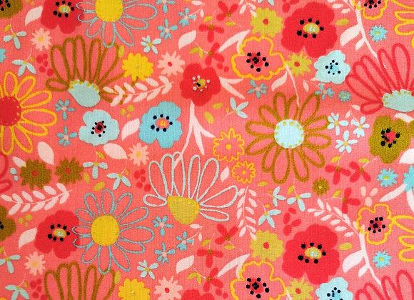 """Coton """"Floral"""" rose"""