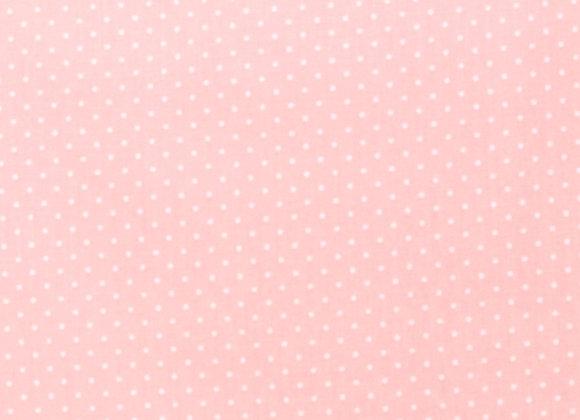 """Coton """"Pois minis Rose pâle"""""""